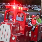 Trackless fire engine rides before the show