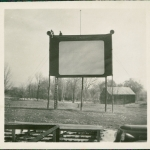 The very first site of the drive-in, which is a block away from it's present location. It is now a baseball field.