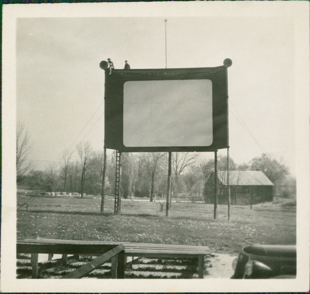 The very first site of the drive-in, which is a block away from it