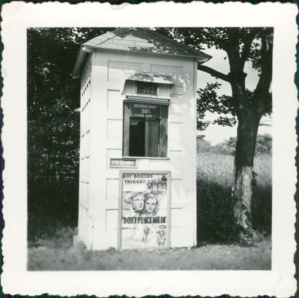 First ticket booth, 1946.