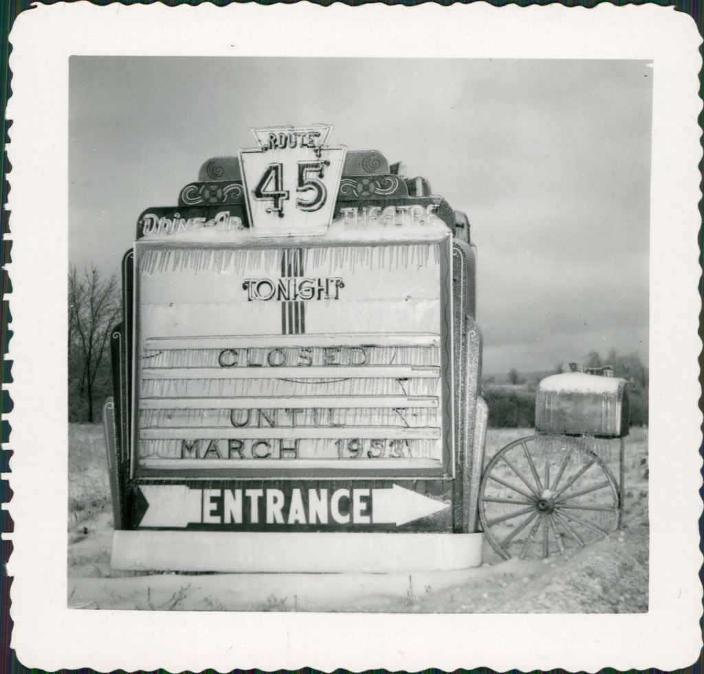 Original entrance marquee, 1952-53.