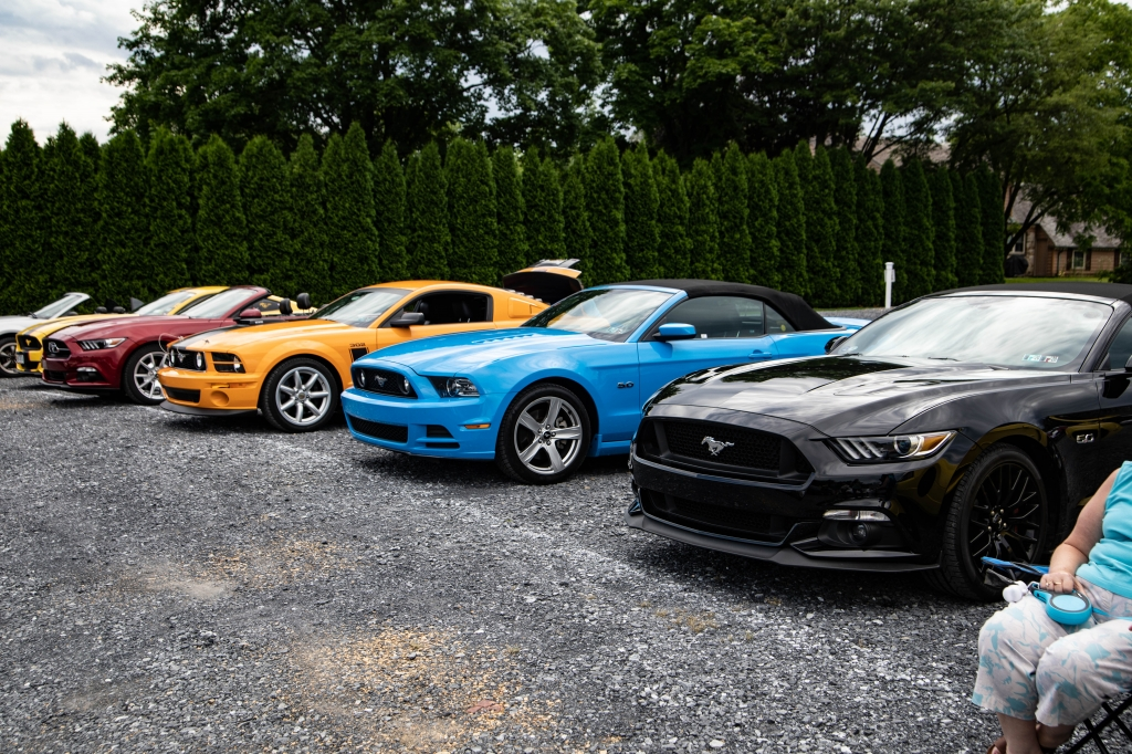 A group of Mustangs gather for our 73rd Anniversary Celebration